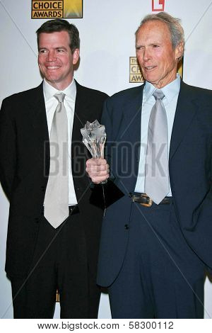 Robert Lorenz and Clint Eastwood in the press room at the 12th Annual Critics' Choice Awards. Santa Monica Civic Auditorium, Santa Monica, CA. 01-12-07