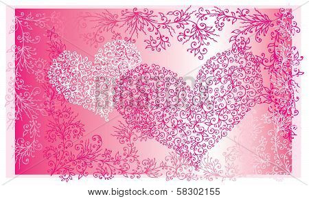St.Valentine Love Red Heart Card II