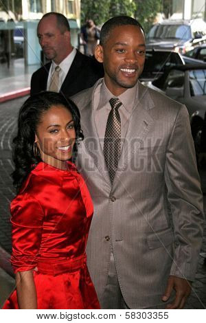 Jada Pinkett Smith and Will Smith at the luncheon for the nominees of the 79th Annual Academy Awards. Beverly Hilton Hotel, Beverly Hills, Ca. 02-05-07