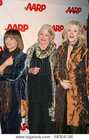 Valerie Harper with Louise Fletcher and Blythe Danner at AARP The Magazine's 2007 Movies For Grownups Awards. Hotel Bel-Air, Los Angeles, CA. 02-06-07