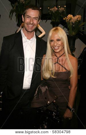 Rupert Everett and Donatella Versace at the plaque unveiling Rodeo Drive Walk of Style Plaque's Honoring Gianni Versace and Donatella Versace. Two Rodeo, Beverly Hills, CA. 02-07-07