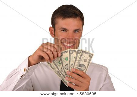 Businessman And  Money