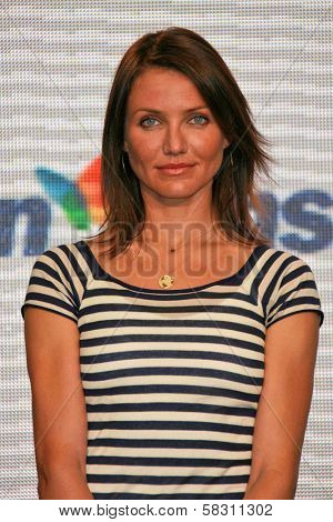Cameron Diaz at a press conference to Announce the Global Climate Crisis Campaign Concert