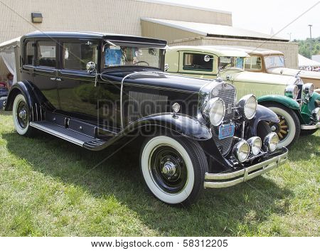 1929 Black Cadillac Side View