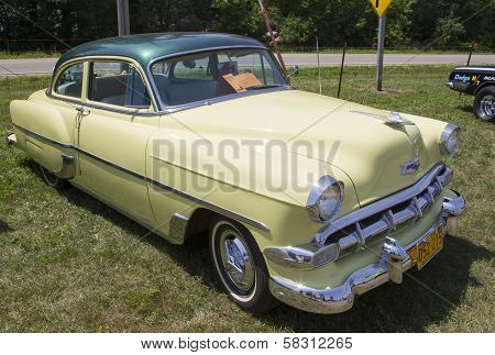 1954 Yellow Chevy