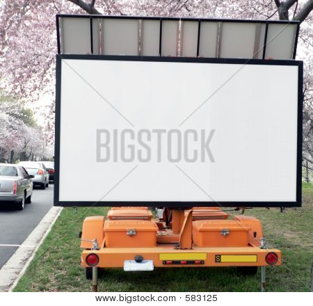 Blank Mobile Traffic Sign