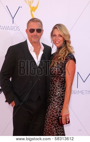 Kevin Costner at the 2012 Primetime Emmy Awards Arrivals, Nokia Theater, Los Angeles, CA 09-23-12