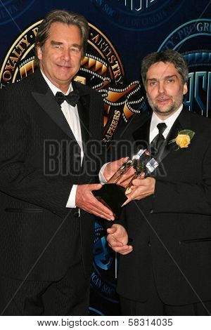 Beau Bridges and David Moxness at the American Society of Cinematographers 21st Annual Outstanding Achievement Awards. Hyatt Regency Century Plaza Hotel, Century City, CA. 02-18-07