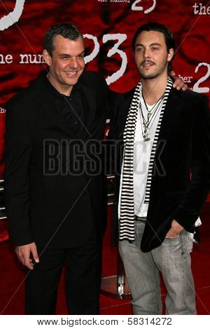 Danny Huston and son at the Los Angeles Premiere of