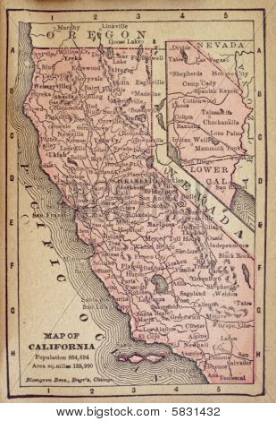 1840 California map
