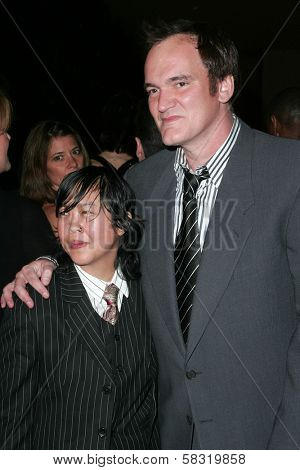 Cindy Mah and Quentin Tarantino at the 2007 ACE Eddie Awards. Beverly Hilton Hotel, Beverly Hills, CA. 02-18-07