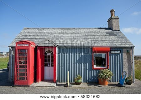 Small Post Office In A Remote Scottish Village