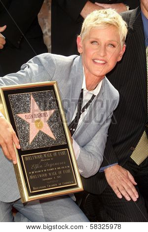 Ellen DeGeneres at the Ellen Degeneres Star on the Hollywood Walk of Fame Ceremony, Hollywood, CA 09-04-12