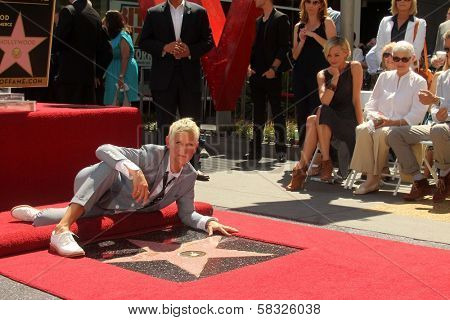 Ellen Degeneres, Portia de Rossi, Betty Degeneres at the Ellen Degeneres Star on the Hollywood Walk of Fame Ceremony, Hollywood, CA 09-04-12