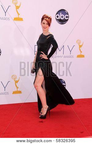 Alexandra Breckenridge at the 2012 Primetime Emmy Awards Arrivals, Nokia Theater, Los Angeles, CA 09-23-12