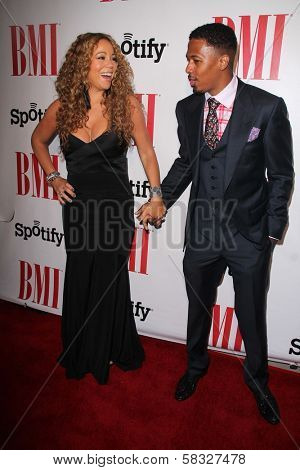 Mariah Carey, Nick Cannon at the 2012 BMI Urban Awards, Saban Theatre, Beverly Hills, CA 09-07-12