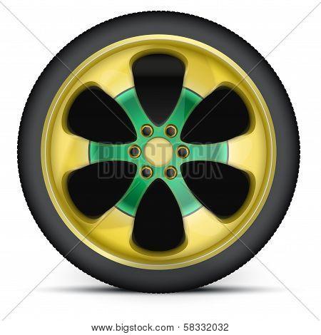 Rim of sports racing car