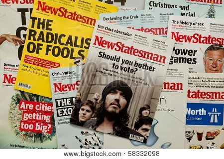 Political oriented New Statesman Magazine Covers
