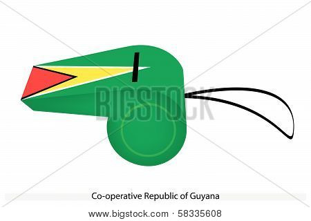 A Whistle Of Cooperative Republic Of Guyana