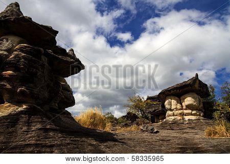 Two Big Mushroom Stone