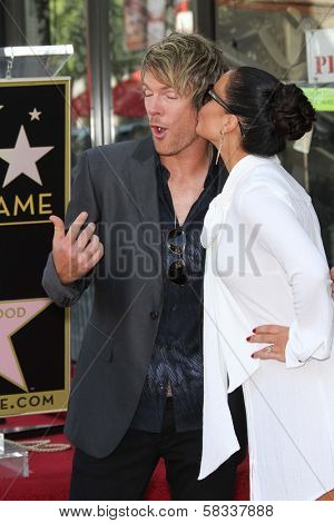 Joe Don Rooney and Tiffany Fallon at the Rascal Flatts Star on the Hollywood Walk of Fame, Hollywood, CA 09-17-12