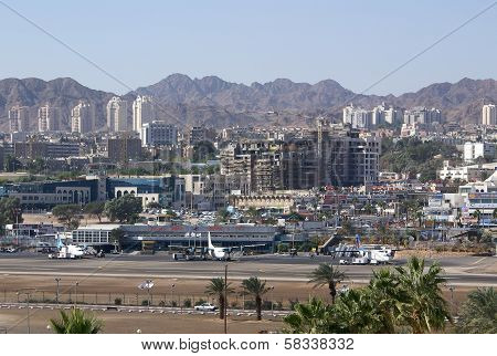 Airport In The Center Of Eilat