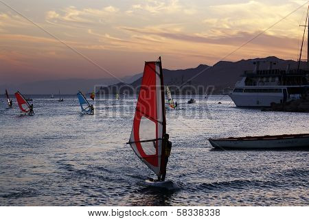 Windsurfing On The Red Sea