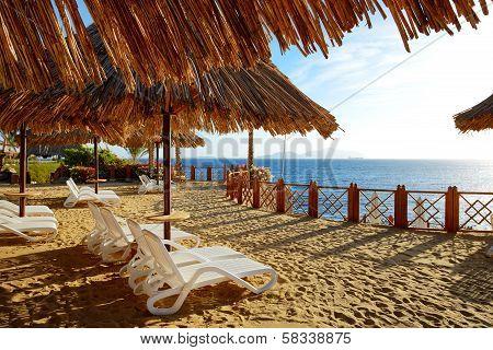 Beach decoration at the luxury hotel, Sharm el Sheikh, Egypt
