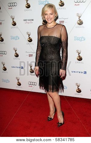 Elisabeth Moss at the 64th Primetime Emmy Award Performer Nominee Reception, Spectra by Wolfgang Puck, West Hollywood, CA 09-21-12