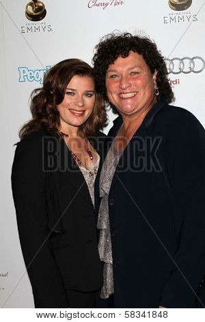 Bridgett Casteen and Dot Marie Jones at the 64th Primetime Emmy Award Performer Nominee Reception, Spectra by Wolfgang Puck, West Hollywood, CA 09-21-12