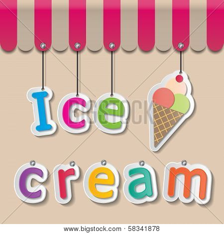 Ice Cream Shopfront Sign