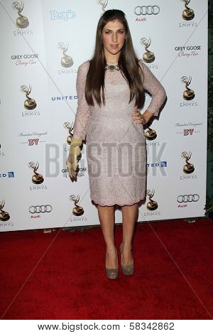 Mayim Bialik at the 64th Primetime Emmy Award Performer Nominee Reception, Spectra by Wolfgang Puck, West Hollywood, CA 09-21-12