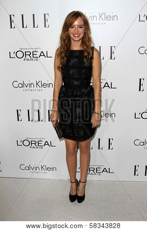 Ahna O'Reilly at the Elle Magazine 17th Annual Women in Hollywood, Four Seasons, Los Angeles, CA 10-15-12