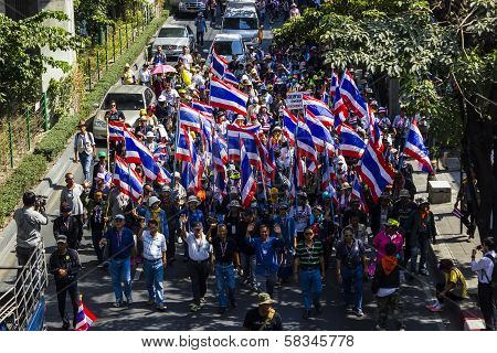 Protestors In Bangkok Ask To Reform Before Election At Asoke