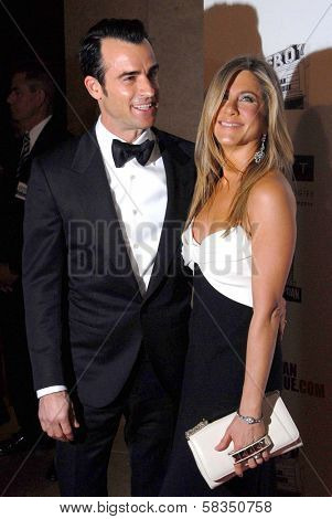 Justin Theroux, Jennifer Aniston at the 26th American Cinematheque Award Honoring Ben Stiller, Beverly Hilton Hotel, Beverly Hills, CA 11-15-12