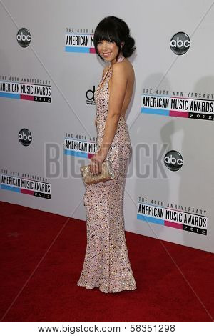 Carly Rae Jepsen at the 40th American Music Awards Arrivals, Nokia Theatre, Los Angeles, CA 11-18-12