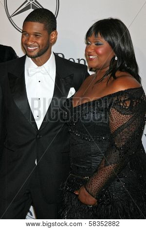 Usher and guest at the 17th Carousel of Hope Ball to benefit The Barbara Davis Center for Childhood Diabetes. Beverly Hilton Hotel, Beverly Hills, CA. 10-28-06
