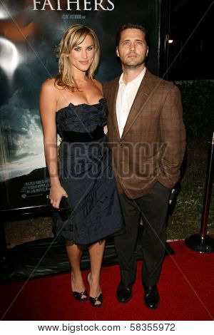 Jason Priestley and wife Naomi at the premiere of
