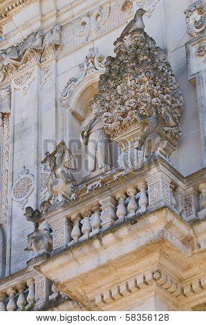 Basilica of St. Giovanni Battista. Lecce. Puglia. Italy.