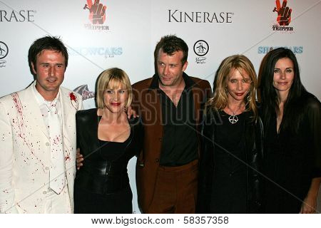 L-R David Arquette, Patricia Arquette, Thomas Jane, Rosanna Arquette, and Courteney Cox at the World Premiere of