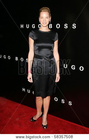 Ashley Scott at Hugo Boss's