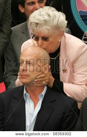 Bruce Willis and mother Marlene Willis at the Ceremony honoring Bruce Willis with the 2,321st star on the Hollywood Walk of Fame. Hollywood Boulevard, Hollywood, CA. 10-16-06