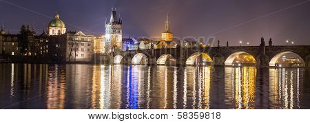 View of Bridge Tower in Prague