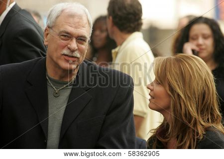 Phil Jackson and Jeanie Buss at the Ceremony Honoring Los Angeles Lakers Owner Jerry Buss with the 2,323rd star on the Hollywood Walk of Fame. Hollywood Boulevard, Hollywood, CA. 10-30-06