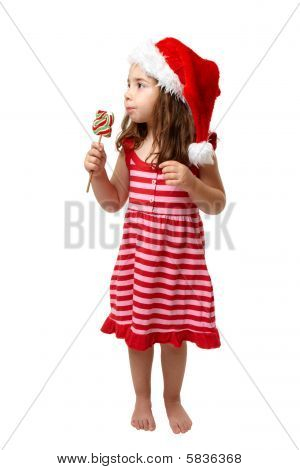 Christmas Girl With Candy