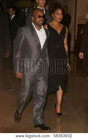 Jermaine Dupri and Janet Jackson at the 9th Annual Benefit for the Lili Claire Foundation. Beverly Hilton Hotel, Beverly Hills, CA. 10-14-06