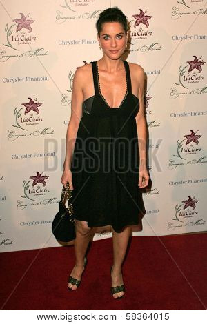 Amanda Peet at the 9th Annual Benefit for the Lili Claire Foundation. Beverly Hilton Hotel, Beverly Hills, CA. 10-14-06