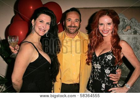 Jackie Watson with Jose Nazar and Phoebe Price at the birthday party for Phoebe Price. Private Location, Los Angeles, CA. 10-11-06