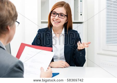 Job Applicant Having An Interview
