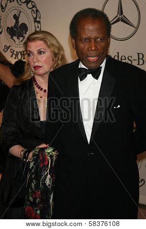 Joanna Shimkus and Sidney Poitier at the 17th Carousel of Hope Ball to benefit The Barbara Davis Center for Childhood Diabetes. Beverly Hilton Hotel, Beverly Hills, CA. 10-28-06